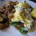 Eggs Benedict at The Wellington Diner