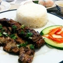 Cơm Dĩa (rice with grilled meat) at Huong's Vietnamese Bistro