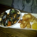 Mussels at Back Lane Café