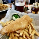 Fish and Chips at Aulde Dubliner
