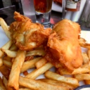 Fish and Chips at Highlander Pub