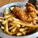 Fish and Chips at The Clocktower Brew Pub