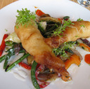 Beer-battered Haddock at Fraser Café