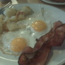 Bacon and Eggs Breakfast at Reynold Restaurant